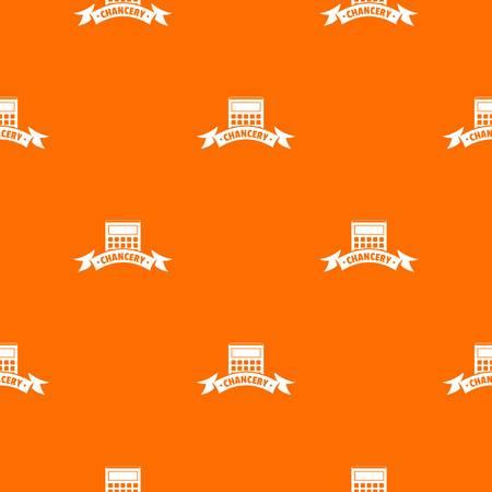 Calculator stationery pattern vector orange