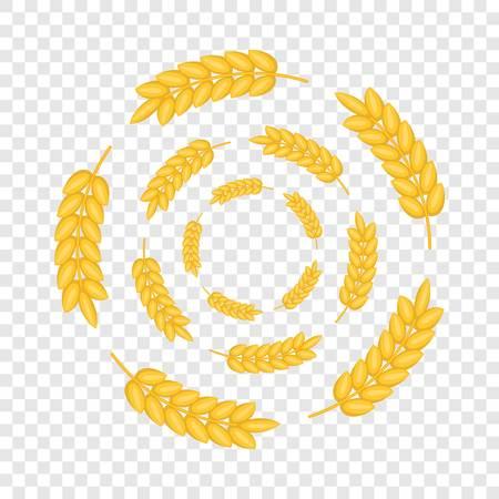 Round frame of ears icon. Cartoon illustration of round frame of ears vector icon for web design