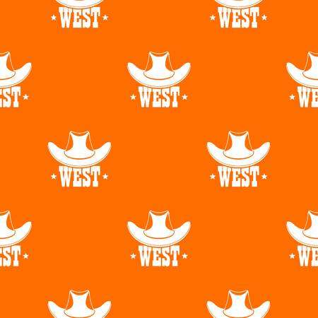 West pattern vector orange