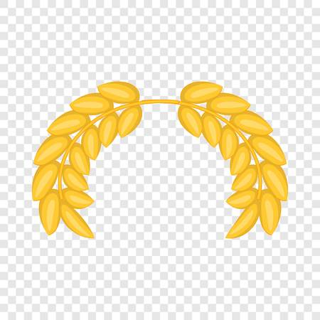 Wreath of ears icon. Cartoon illustration of wreath of ears vector icon for web design