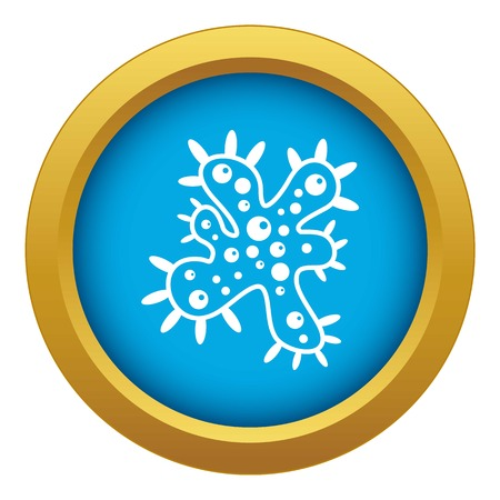 Bacteria icon blue vector isolated on white background for any design