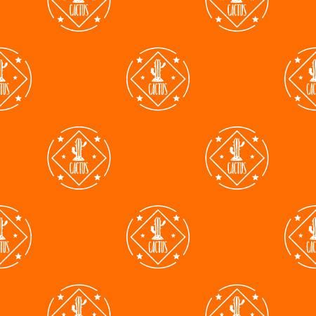 Cactus pattern vector orange