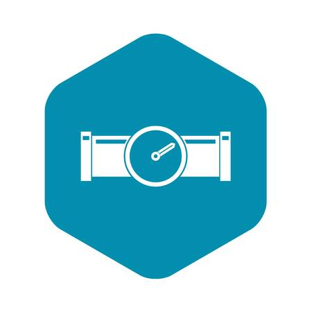 Instrument measures the pressure in the pipe icon. Simple illustration of instrument measures the pressure in the pipe vector icon for web