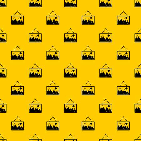 Painting with nature pattern seamless vector repeat geometric yellow for any design