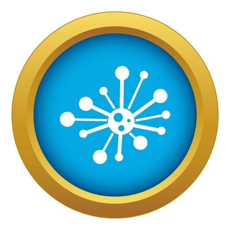 Round bacteria icon blue vector isolated on white background for any design