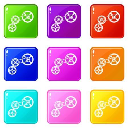 Transportation system icon. Simple illustration of transportation system vector icon for web. Stock Vector - 124579637