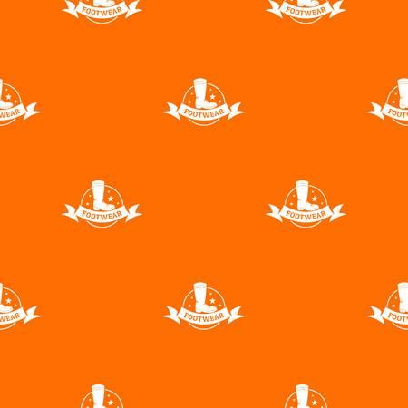 Footwear pattern vector orange