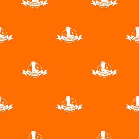 Footwear pattern vector orange