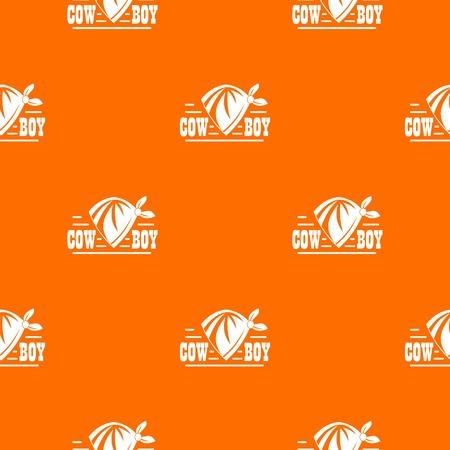 Cowboy pattern vector orange Ilustração