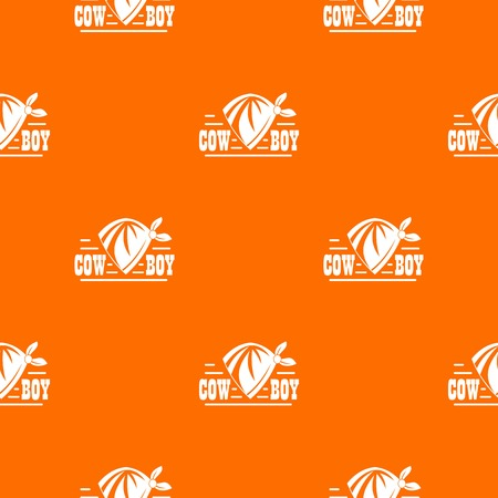 Cowboy pattern vector orange Illustration