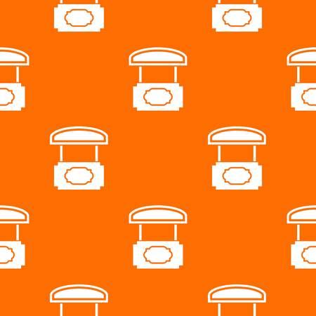 Wood stall pattern vector orange Ilustração