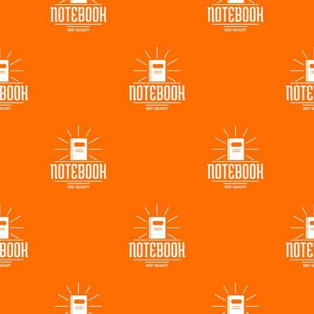 Notebook pattern vector orange Ilustracja