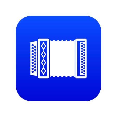 Accordion icon digital blue  イラスト・ベクター素材