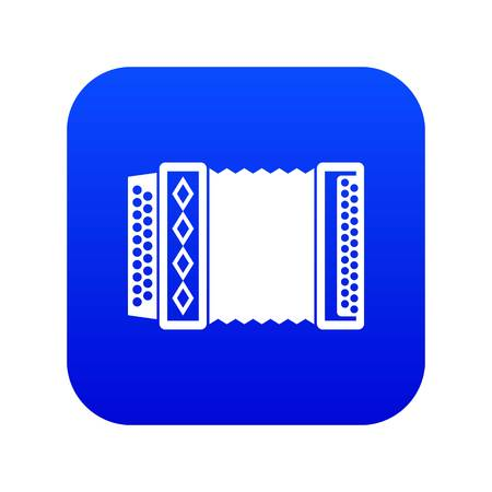 Accordion icon digital blue Illustration