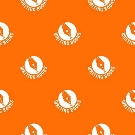 Writing book pattern vector orange