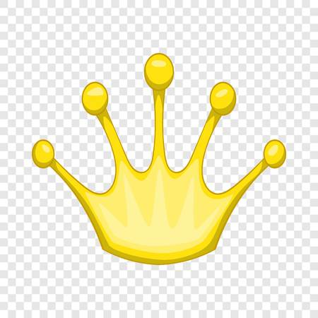 Gold crown icon. Cartoon illustration of gold crown vector icon for web design
