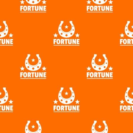 Fortune pattern vector orange Banque d'images - 124723033