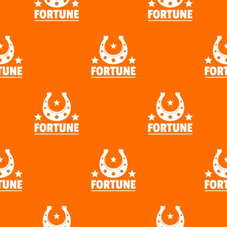 Fortune pattern vector orange