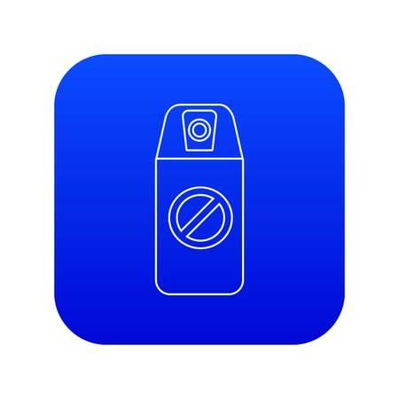 Mosquito spray icon blue vector