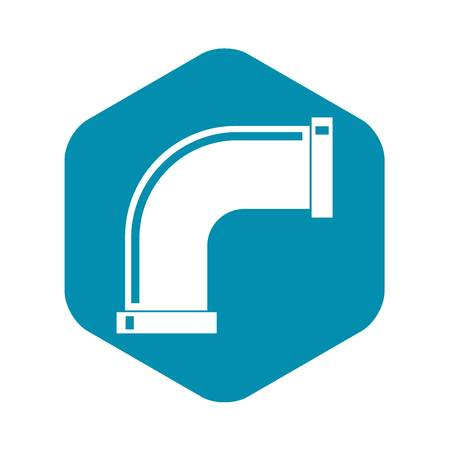 Water pipe icon, simple style
