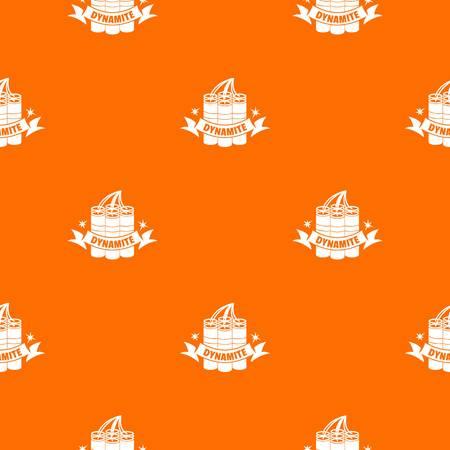 Dynamite pattern vector orange