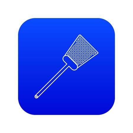 Swatter icon blue vector Illustration