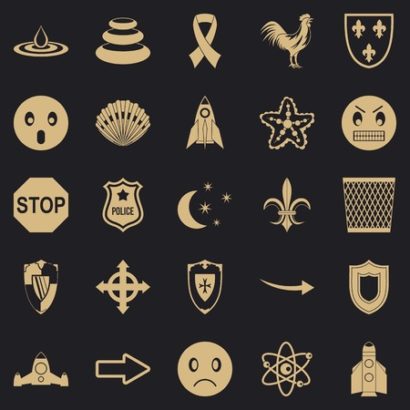 Favour icons set, simple style