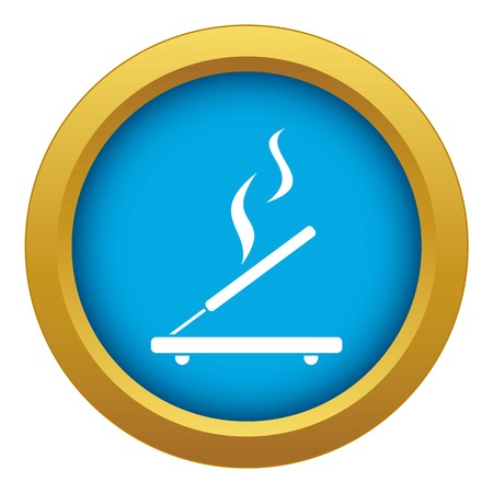 Incense sticks icon blue vector isolated on white background for any design Illustration