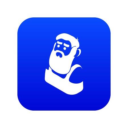 Blacksmith icon blue vector