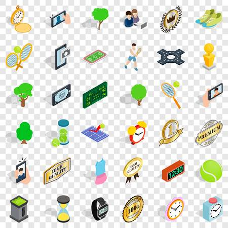 Sport icons set. Isometric style of 36 sport vector icons for web for any design Reklamní fotografie - 124724643