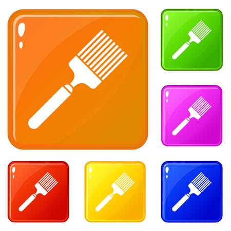 Brush icons set vector color