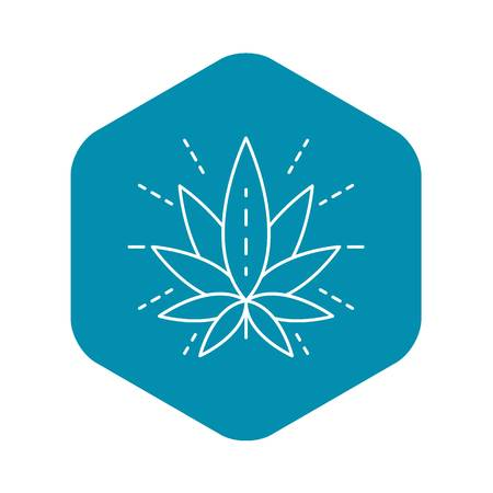 Eco cannabis leaf outline style Illustration