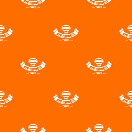 Tourism dirigible pattern vector orange Çizim