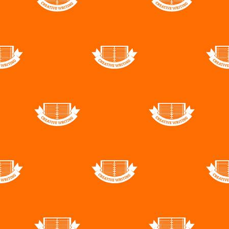 Creative writing pattern vector orange