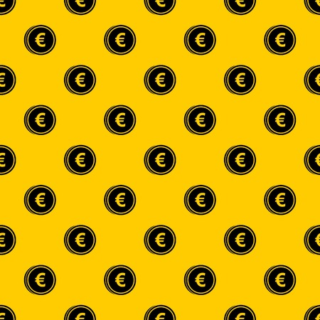 Euro coins pattern vector