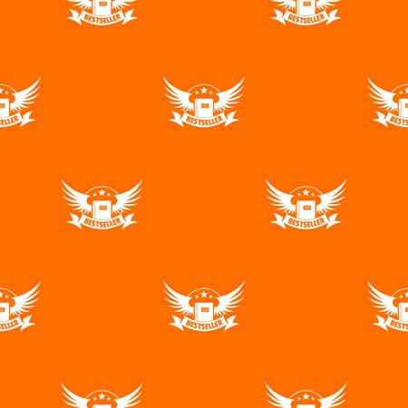Bestseller pattern vector orange