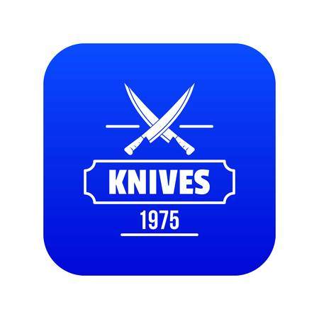 Knife icon blue vector Ilustração
