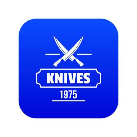 Knife icon blue vector Illustration