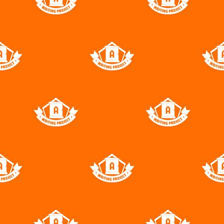 Writing project pattern vector orange
