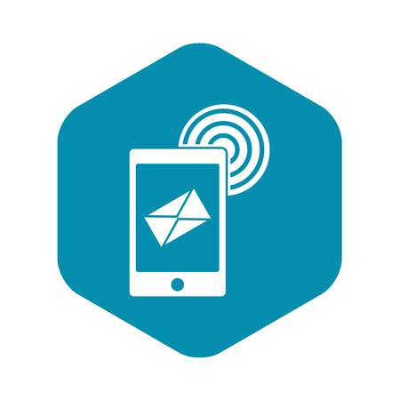 Mobile mail sign icon, simple style Illustration