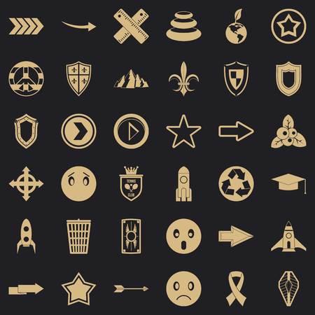 Company  icons set, simple style Çizim