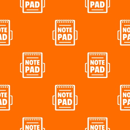 Notepad pattern vector orange