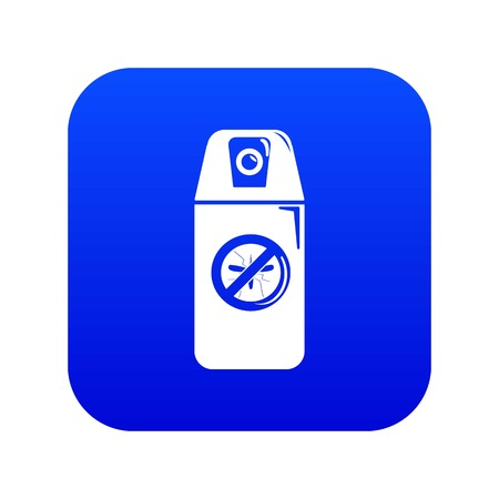 Mosquito spray icon blue vector