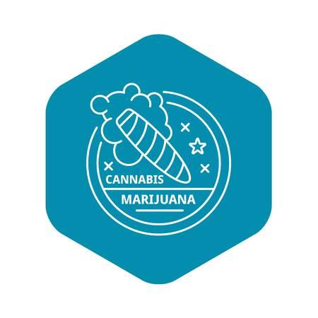 Marijuana cigar outline style
