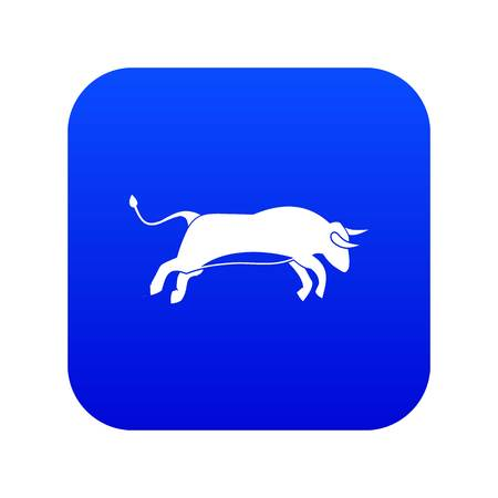 Bull icon digital blue