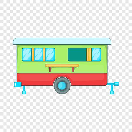Mobile home icon. Cartoon illustration of mobile home vector icon for web design