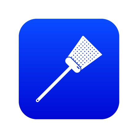Swatter icon blue vector Çizim