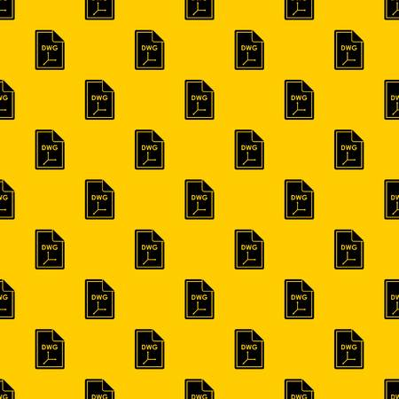 File DWG pattern seamless vector repeat geometric yellow for any design