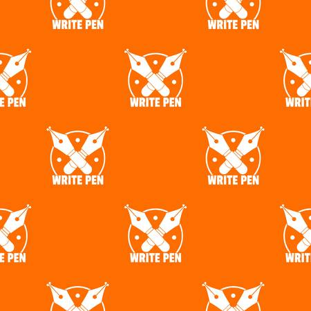 Write pen pattern vector orange