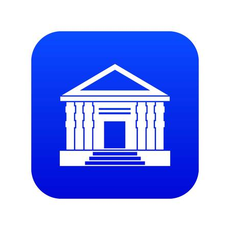 Colonnade icon digital blue Vettoriali